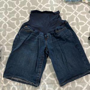 Indigo Blue Maternity Shorts - Size XL